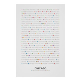 Chicago - MetroDots Poster