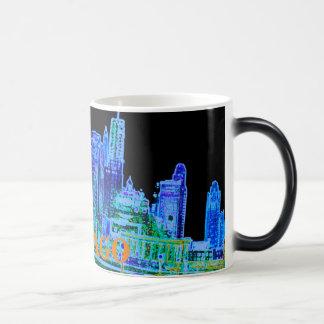 Chicago Michigan Avenue 1940's Art Color Neon Magic Mug