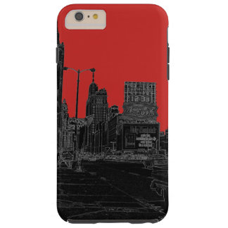 Chicago Michigan Avenue 1960's Glowing Edges Black Tough iPhone 6 Plus Case