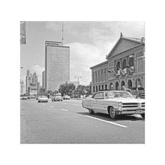 Chicago Michigan Avenue Art Museum 1960's Photo Canvas Print
