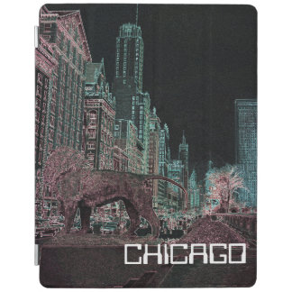 CHICAGO MICHIGAN AVENUE @ ART MUSEUM 1967 NEON iPad COVER