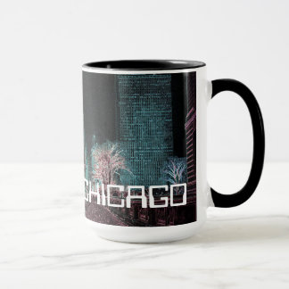 CHICAGO MICHIGAN AVENUE @ ART MUSEUM 1967 NEON MUG