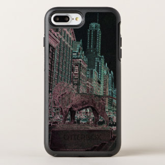 CHICAGO MICHIGAN AVENUE @ ART MUSEUM 1967 NEON OtterBox SYMMETRY iPhone 8 PLUS/7 PLUS CASE