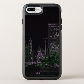 Chicago Michigan Avenue @ Night 1967 Neon Colorful OtterBox Symmetry iPhone 8 Plus/7 Plus Case