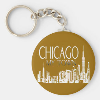Chicago My Town Key Ring