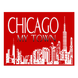Chicago My Town Postcard