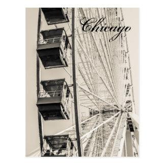 Chicago Navy Pier Ferris Wheel Postcard