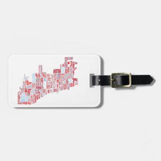Chicago Neighborhood Map Luggage Tag