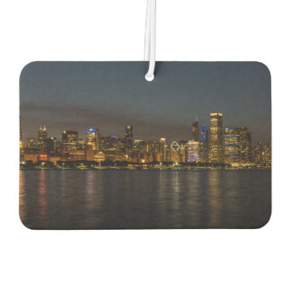 Chicago Night Cityscape Car Air Freshener