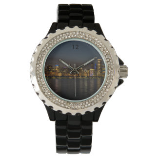 Chicago Night Cityscape Wristwatch