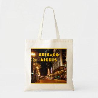 chicago nightlife budget tote bag