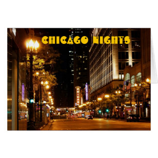 chicago nightlife greeting card