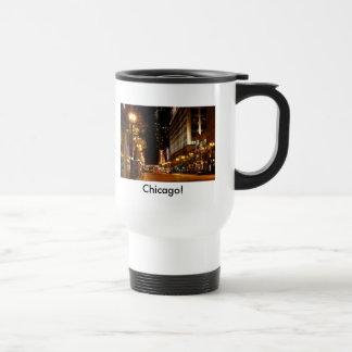 chicago nightlife stainless steel travel mug