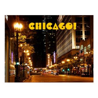 chicago nightlife postcard