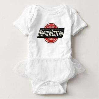 Chicago & Northwestern Railroad Logo 1 Baby Bodysuit
