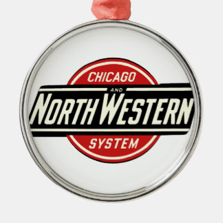Chicago & Northwestern Railroad Logo 1 Metal Ornament