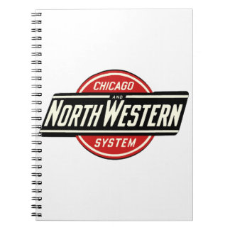 Chicago & Northwestern Railroad Logo 1 Notebooks