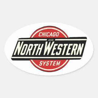 Chicago & Northwestern Railroad Logo 1 Oval Sticker
