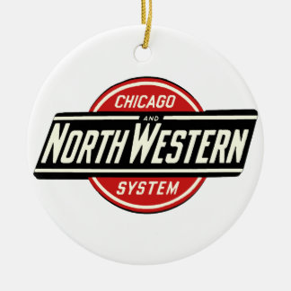 Chicago & Northwestern Railroad Logo 1 Round Ceramic Decoration
