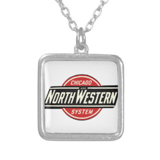 Chicago & Northwestern Railroad Logo 1 Silver Plated Necklace