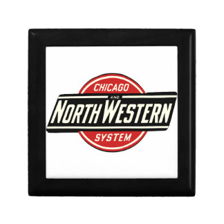 Chicago & Northwestern Railroad Logo 1 Small Square Gift Box