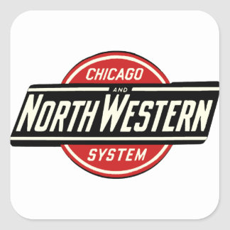 Chicago & Northwestern Railroad Logo 1 Square Sticker
