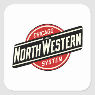 Chicago & Northwestern Railroad -slant Square Sticker