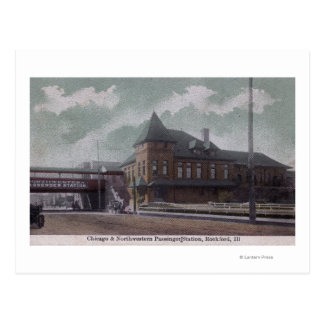 Chicago & Northwestern Railway Station Postcard