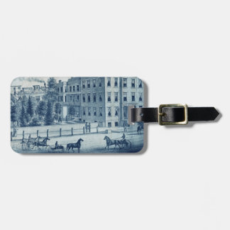 Chicago Northwestern Train 1871 Elgin Illinois Luggage Tag