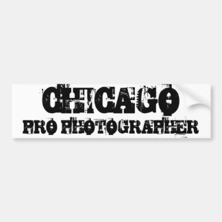 CHICAGO PRO PHOTOGRAPHER Bumper Sticker