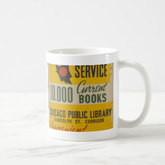 Chicago Public Library Curb Service Basic White Mug