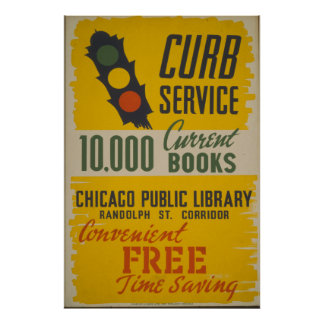 Chicago Public Library Curb Service Posters