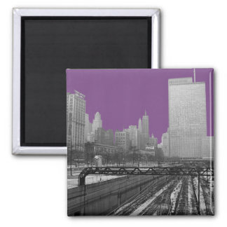 Chicago Rail Yards Michigan Avenue 1960's Photo Magnet