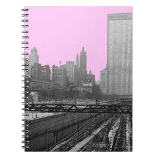 Chicago Rail Yards Michigan Avenue 1960's Photo Spiral Notebook