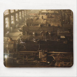 Chicago Railway Locomotive Shop Mouse Pad