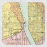 Chicago Railway Terminal Map Stickers