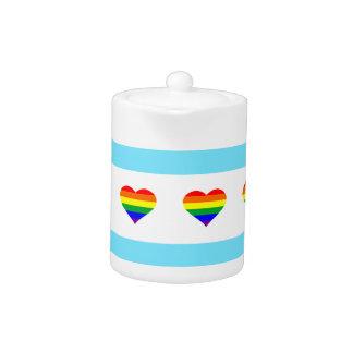 Chicago Rainbow Hearts Flag