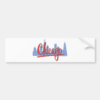 CHICAGO-RED BUMPER STICKER