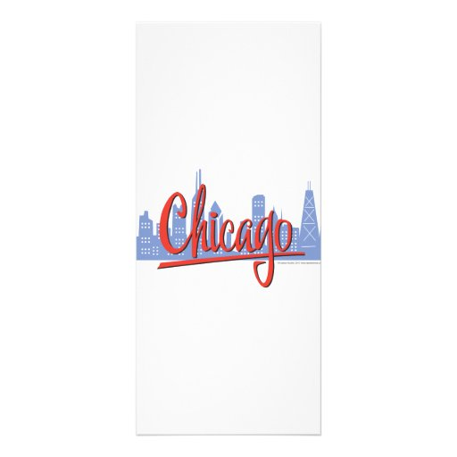 CHICAGO-RED FULL COLOR RACK CARD