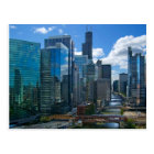 Chicago River Cityscape Near the Loop Postcard