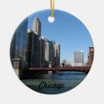 Chicago River Round Ceramic Decoration