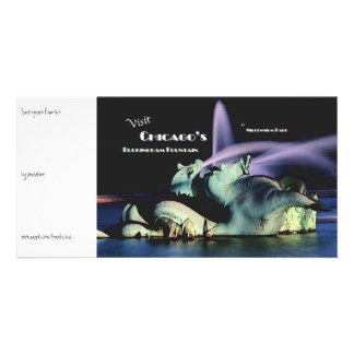 Chicago s Buckingham Fountain Photo Greeting Card