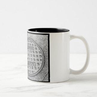 chicago sewer Two-Tone coffee mug