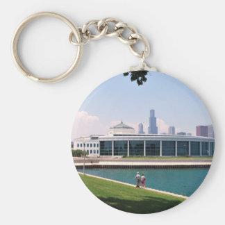 Chicago Shedd Aquarium collection Basic Round Button Key Ring