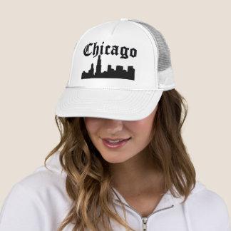 Chicago Silhouette Skyline Trucker Hat