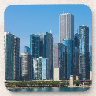 Chicago Skycrapers Drink Coasters