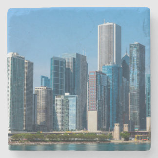 Chicago Skycrapers Stone Coaster