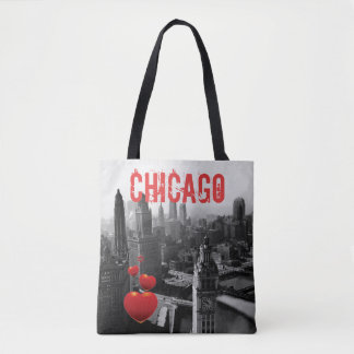 Chicago Skyline1930's from Above view Photograph Tote Bag