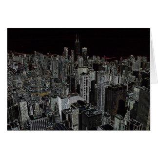 Chicago Skyline 1 Note Card