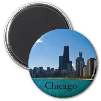 Chicago Skyline 6 Cm Round Magnet